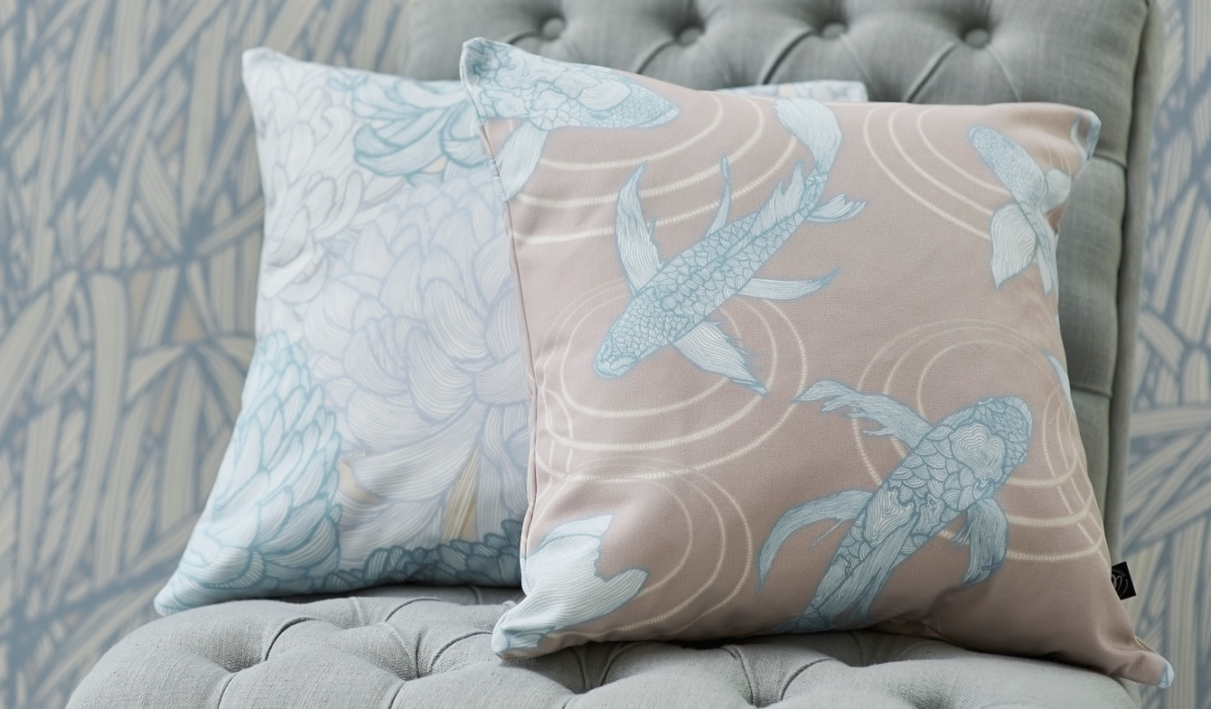 Lucky Fish - Tranquil Lines Collection by Patricia Braune