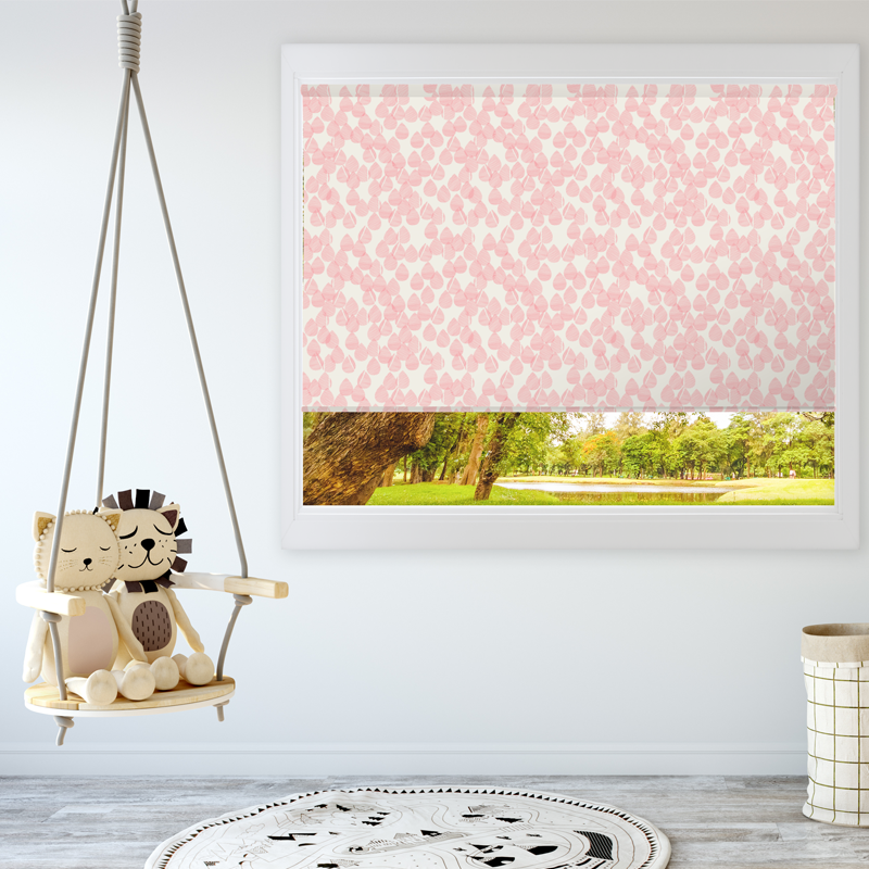 Drops - Strawberry and Cream - Blinds in Print - Patricia Braune designs