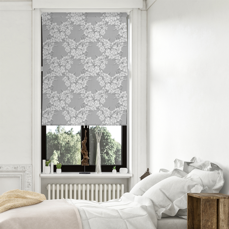 Magnolia Story Main - Silver - Blinds in Print - Patricia Braune designs