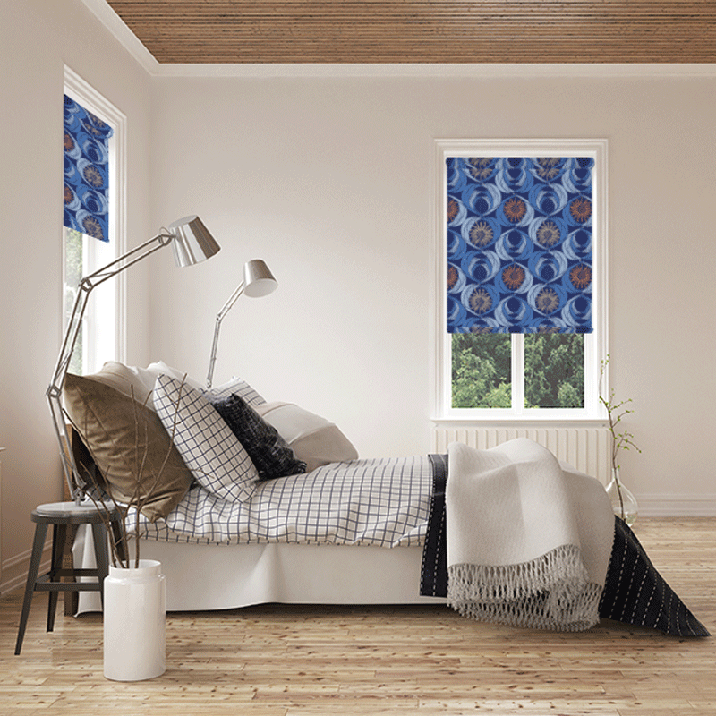 The Chief's Daughter - Navy - Blinds in Print - Patricia Braune designs