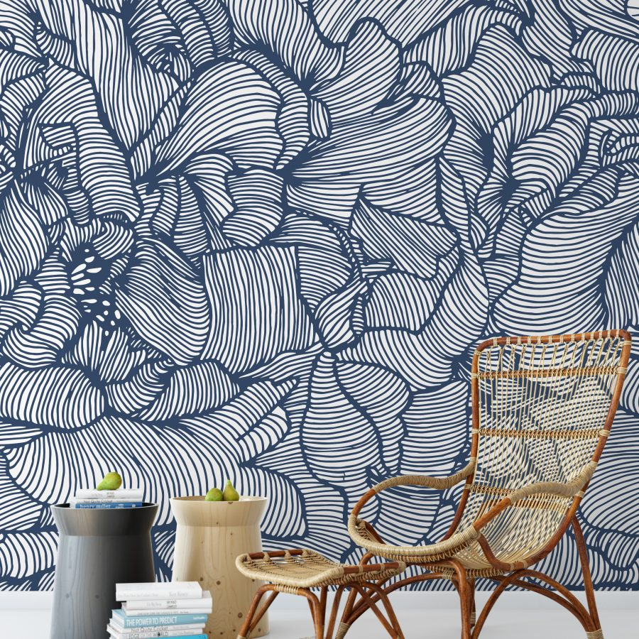 peony_frill_mural_double_panel_deep_sea_mock_up