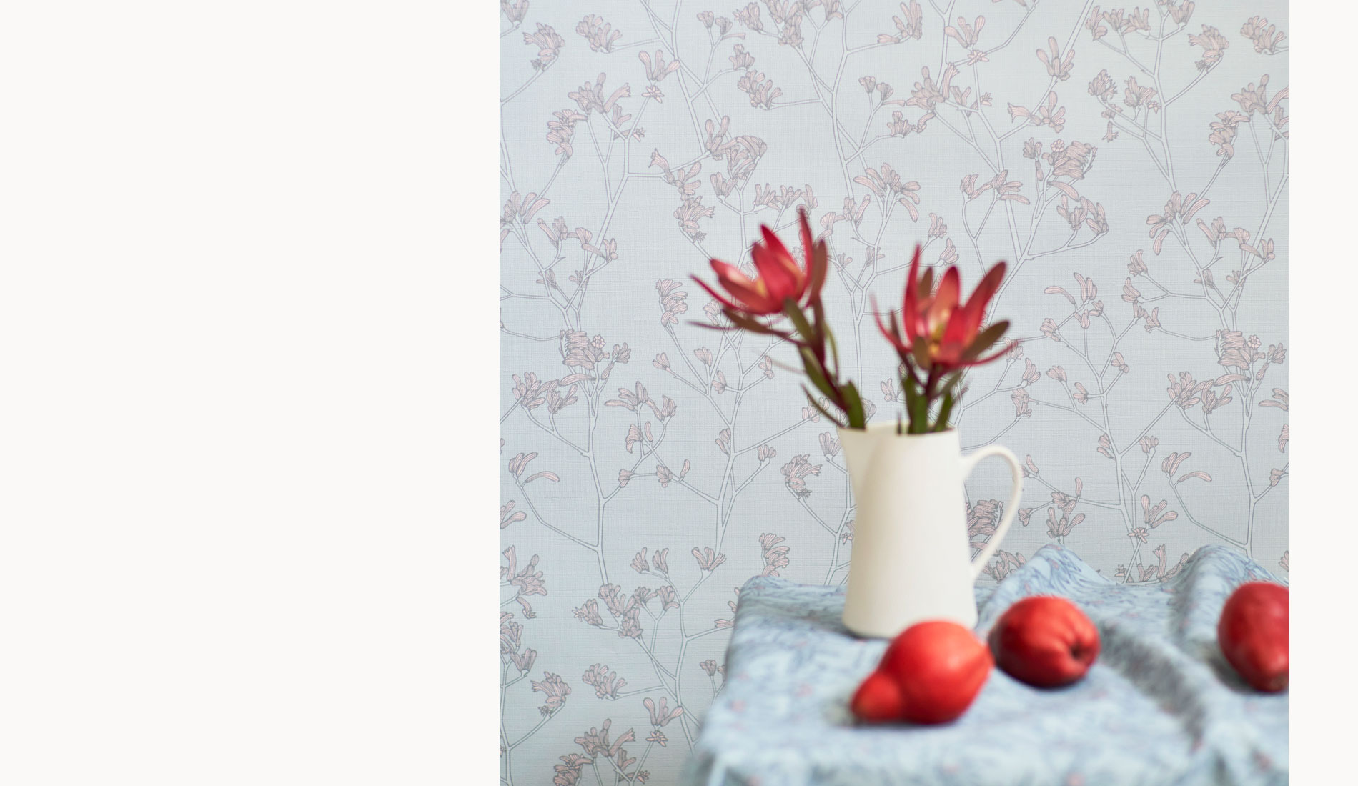 Kangaroo Paw Wallpaper from the Australian Lines Collection by Patricia Braune