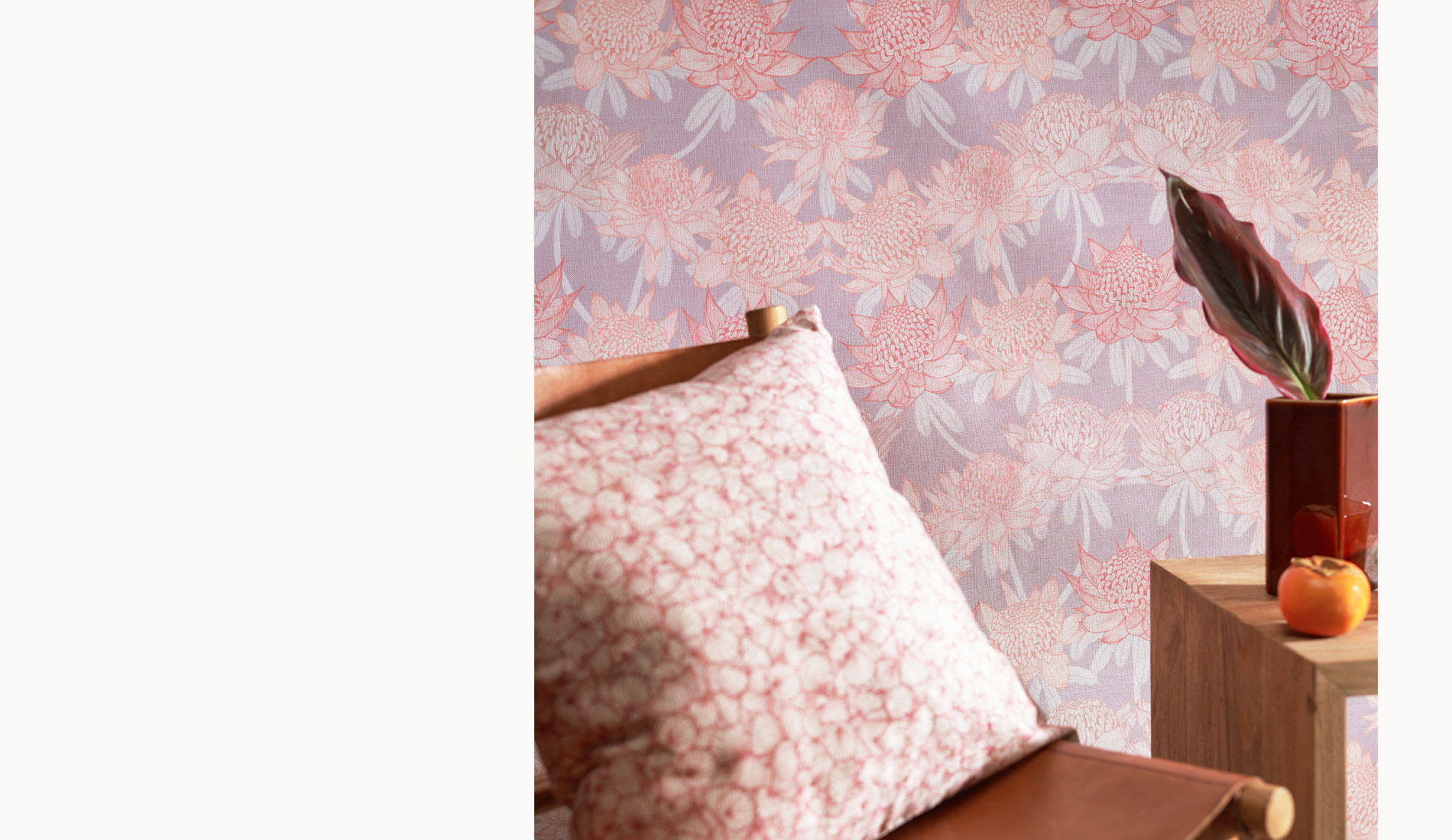 Waratah Garden Wallpaper from the Australian Lines Collection by Patricia Braune