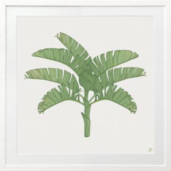 Tropical Plantation Green Artwork 2 - WHITE FRAME