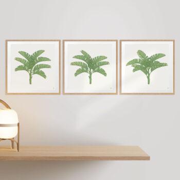 Tropical Plantation Green Artwork - OAK FRAMES