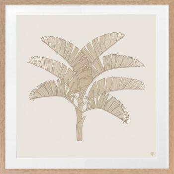 Tropical Plantation Tan Artwork 1 - - OAK FRAME