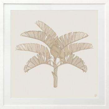 Tropical Plantation Tan Artwork 2 - WHITE FRAME