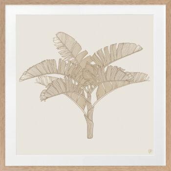 Tropical Plantation Tan Artwork 3 - OAK FRAME
