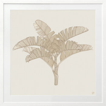 Tropical Plantation Tan Artwork 3 - WHITE FRAME