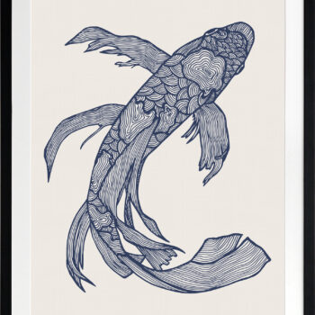 Lucky Fish Kei Ocean - BLACK FRAME