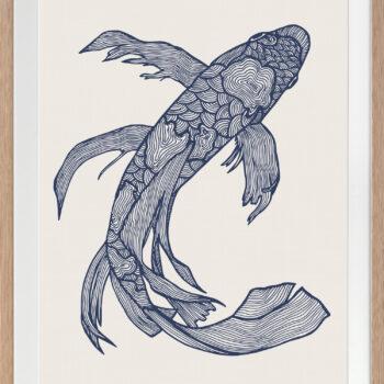 Lucky Fish Kei Ocean - OAK FRAME