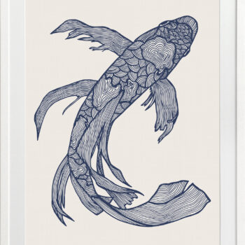 Lucky Fish Kei Ocean - WHITE FRAME