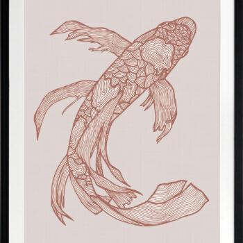 Lucky Fish Kei Rust - BLACK FRAME