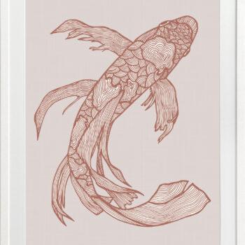Lucky Fish Kei Rust - WHITE FRAME