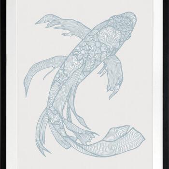Lucky Fish Kei Water - BLACK FRAME