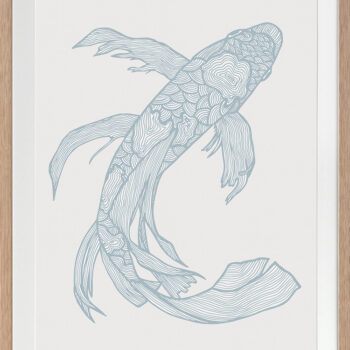 Lucky Fish Kei Water - OAK FRAME