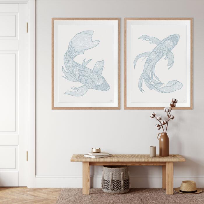 Lucky Fish Koi & Kei Water - OAK FRAME