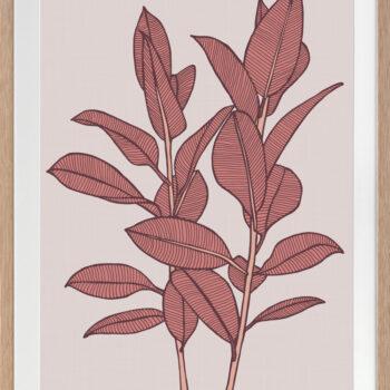 Rubbery Leaf 1 Red - OAK FRAMES