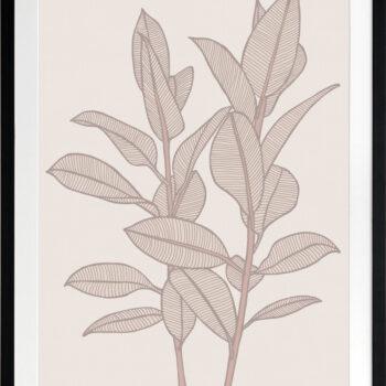Rubbery Leaf 1 Stone - BLACK FRAMES