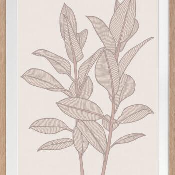 Rubbery Leaf 1 Stone - OAK FRAMES