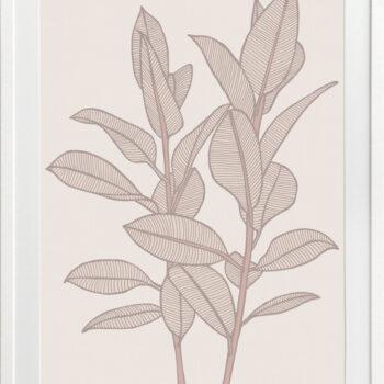 Rubbery Leaf 1 Stone - WHITE FRAMES