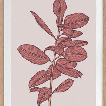 Rubbery Leaf 2 Red - OAK FRAMES