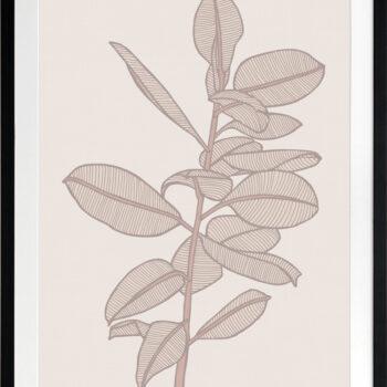 Rubbery Leaf 2 Stone - BLACK FRAMES