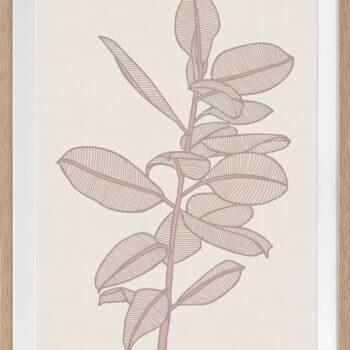 Rubbery Leaf 2 Stone - OAK FRAMES