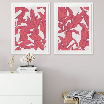 Rubbery Leaf Design 1 & 2 Bold - WHITE FRAMES mock-up