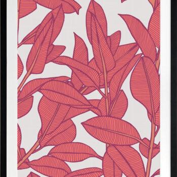 Rubbery Leaf Design 1 Bold - BLACK FRAMES