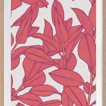 Rubbery Leaf Design 1 Bold - OAK FRAMES