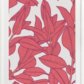 Rubbery Leaf Design 1 Bold - WHITE FRAMES