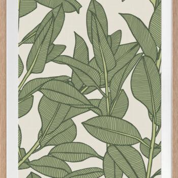 Rubbery Leaf Design 1 Oasis - OAK FRAMES
