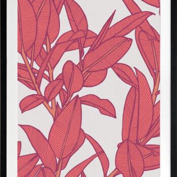 Rubbery Leaf Design 2 Bold - BLACK FRAMES