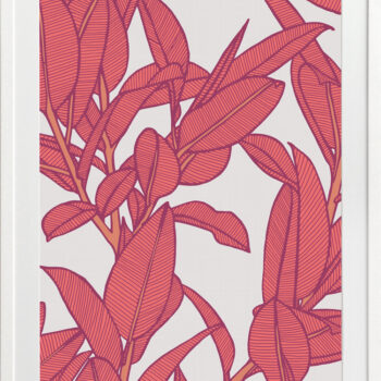 Rubbery Leaf Design 2 Bold - WHITE FRAMES