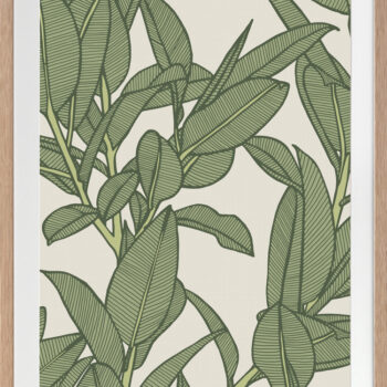 Rubbery Leaf Design 2 Oasis - OAK FRAMES