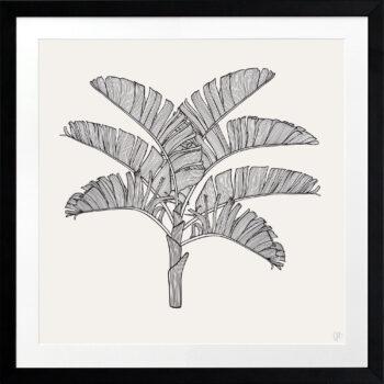Tropical Plantation Black Artwork 1 - BLACK FRAME