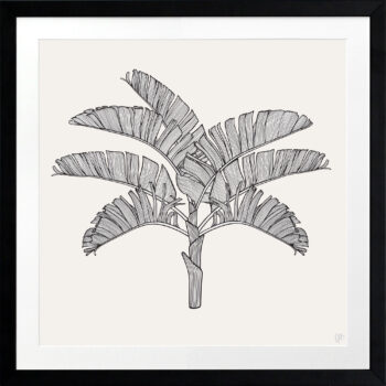 Tropical Plantation Black Artwork 2 - BLACK FRAME