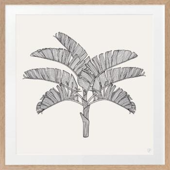 Tropical Plantation Black Artwork 2 - OAK FRAME