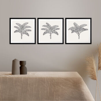 Tropical Plantation Black Artwork - BLACK FRAMES