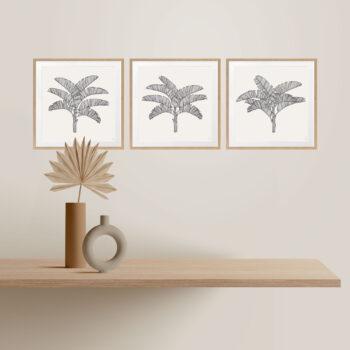 Tropical Plantation Black Artwork - OAK FRAMES