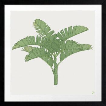 Tropical Plantation Green Artwork 3 - BLACK FRAME