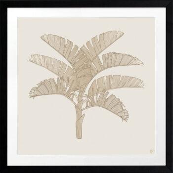 Tropical Plantation Tan Artwork 1 - BLACK FRAME