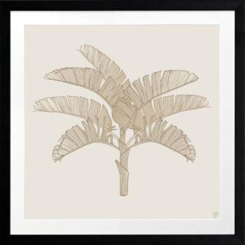 Tropical Plantation Tan Artwork 2 - BLACK FRAME