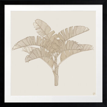 Tropical Plantation Tan Artwork 3 - BLACK FRAME