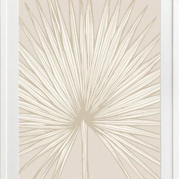 Nobilis-Palm-1-Sand - WHITE FRAMES