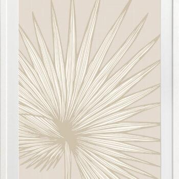 Nobilis-Palm-2-Sand - WHITE FRAMES
