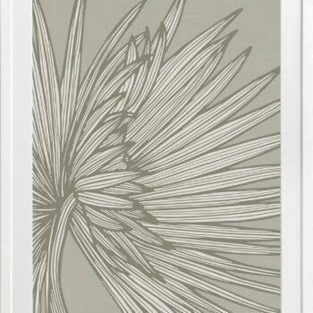 Nobilis-Palm-3-Grey-Green - WHITE FRAMES