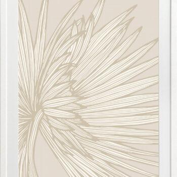 Nobilis-Palm-3-Sand - WHITE FRAMES