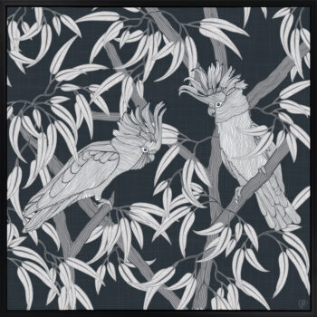In the Trees - Dusky - Framed Canvas Black Frame